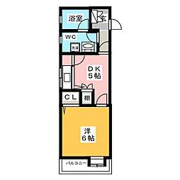 エステートモア博多II[2階]の間取り