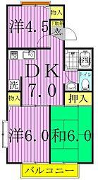 ドリームハイツA・B[1階]の間取り