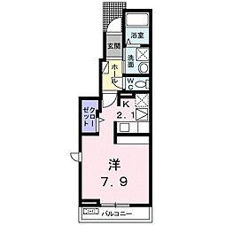 静岡県富士市国久保3丁目の賃貸アパートの間取り
