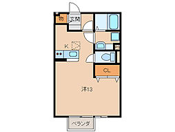 JR紀勢本線 紀三井寺駅 徒歩5分の賃貸アパート 1階ワンルームの間取り