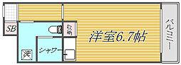 品川大井町スカイレジテル[2階]の間取り