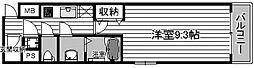LaDouceur心斎橋[9階]の間取り