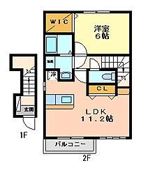 ビサイドシー2[2階]の間取り