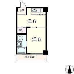 大津におの浜小堀マンション[5階]の間取り