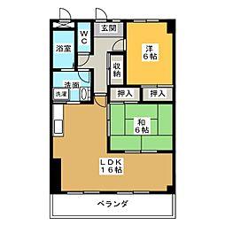 クレール栄[2階]の間取り