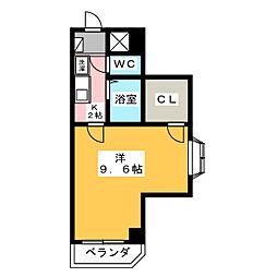 新宿パークハイツ[4階]の間取り