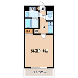 シティ連坊[5階]の間取り