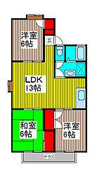埼玉県さいたま市浦和区瀬ヶ崎5丁目の賃貸アパートの間取り