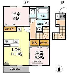 D−room南吉田(仮)[B202 号室号室]の間取り