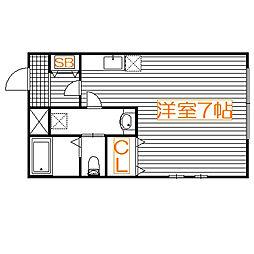 埼玉県さいたま市中央区上落合8丁目の賃貸マンションの間取り