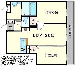 セジュールKOTO[1階]の間取り