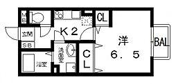 アムールKソロ[1階]の間取り