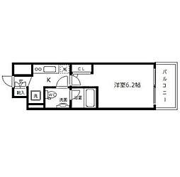 クレストフォルム大阪天満橋[702号室]の間取り