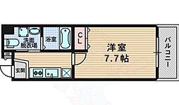 セレブコート豊新 3階1Kの間取り