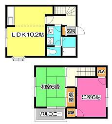 [テラスハウス] 埼玉県所沢市狭山ケ丘2丁目 の賃貸【/】の間取り