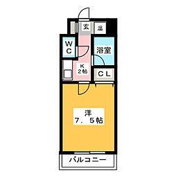 サンシティ箱崎九大前[4階]の間取り