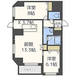 北海道札幌市東区北四十一条東5丁目の賃貸マンションの間取り