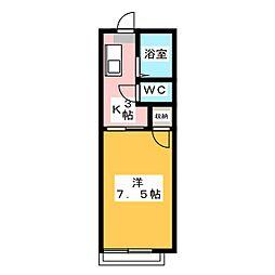 ファーストメゾン江戸橋[1階]の間取り
