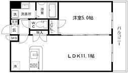 プレサンスOSAKA江坂[8階]の間取り