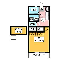 ドリームメゾン太宰府[1階]の間取り