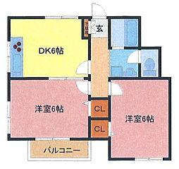 埼玉県さいたま市南区大谷場2丁目の賃貸アパートの間取り