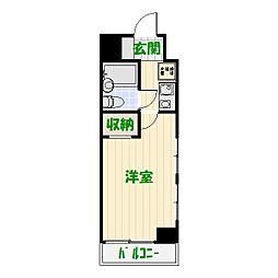グリーンパーク22綾瀬[2F号室]の間取り
