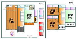[一戸建] 兵庫県神戸市北区西山1丁目 の賃貸【/】の間取り