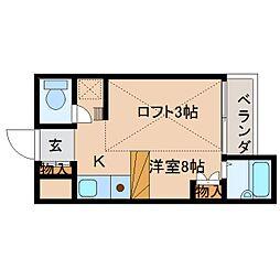 奈良県奈良市西紀寺町の賃貸マンションの間取り