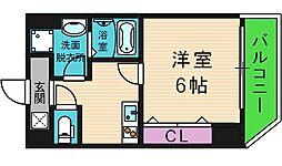 大阪府大阪市東成区中本5丁目の賃貸マンションの間取り