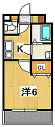 ディアコート静(パレット)[305号室]の間取り