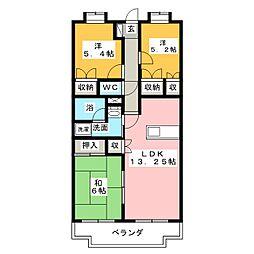 ヴィクトワール[4階]の間取り