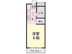 ポナール平方[2階]の間取り