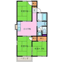 倉田アパート[2階]の間取り