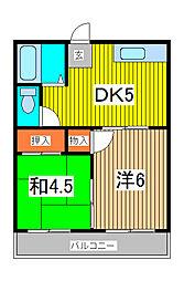 ハウス金子[1階]の間取り