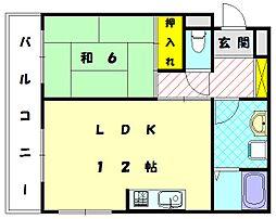 石田ビル[3階]の間取り
