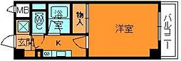 奈良県大和郡山市茶町の賃貸マンションの間取り
