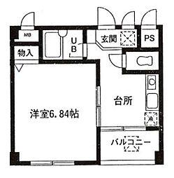 東京都江戸川区瑞江1丁目の賃貸マンションの間取り