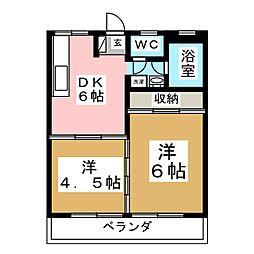 コーポ幕田[2階]の間取り