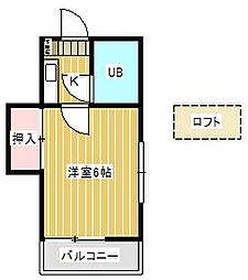 ジュネパレス新松戸第38[2階]の間取り