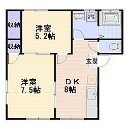 馬入本町2011アパート[102号室]の間取り