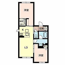 Osaka Metro谷町線 守口駅 徒歩4分の賃貸マンション 3階2LDKの間取り