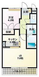 ライブリーレジデンス[1階]の間取り