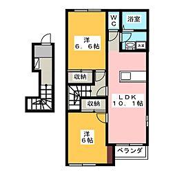 フェリ−チェS[2階]の間取り