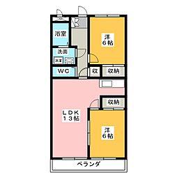 第二宮地興産ビル[3階]の間取り