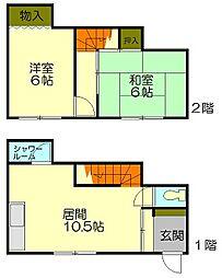 [一戸建] 北海道小樽市東雲町 の賃貸【北海道 / 小樽市】の間取り