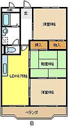 愛知県名古屋市緑区相原郷2の賃貸マンションの間取り