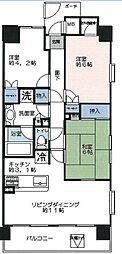 千葉県松戸市日暮1丁目の賃貸マンションの間取り