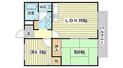 兵庫県姫路市白浜町寺家2丁目の賃貸アパートの間取り