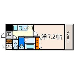クレジデンス新栄[602号室]の間取り