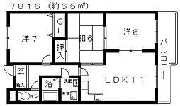 ネオシティ道明寺[507号室号室]の間取り